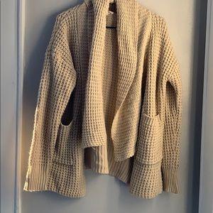 POL Chunky Cardigan Sweater with Pockets